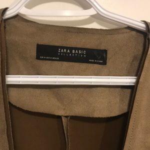 Zara Jackets & Coats - Zara faux suede open front jacket Sz medium